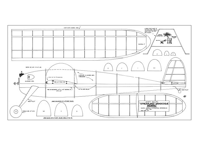 Streamlined Monocoque Midwing - plan thumbnail image