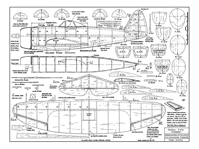 Republic P-47D Thunderbolt - plan thumbnail image