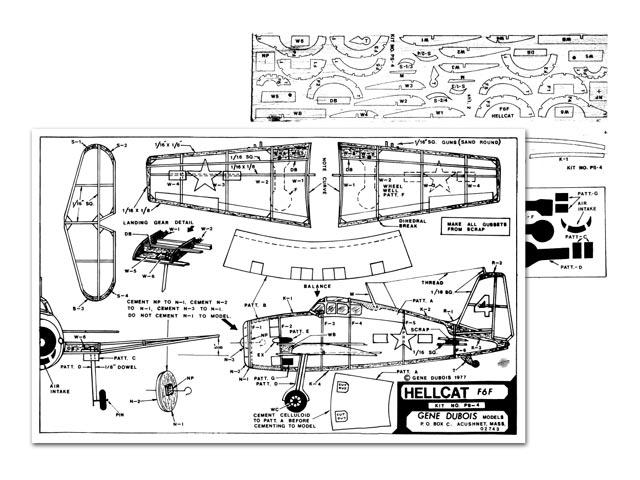 Grumman F6F Hellcat (oz8604) by Gene Dubois from Gene Dubois Models 1977