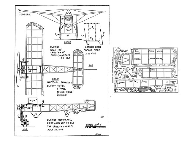 Bleriot Monoplane (oz8635) by Henry Struck