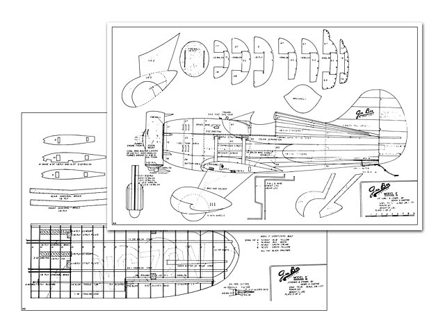 Gee Bee Model E - plan thumbnail image