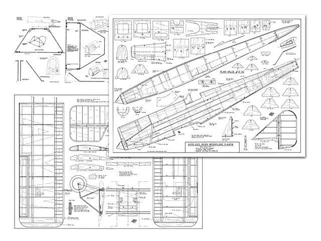Avro 625 Avian Monoplane - plan thumbnail image