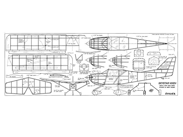 Skystar Vixen (oz8756) by Mark Fineman from Aeromodeller 1995