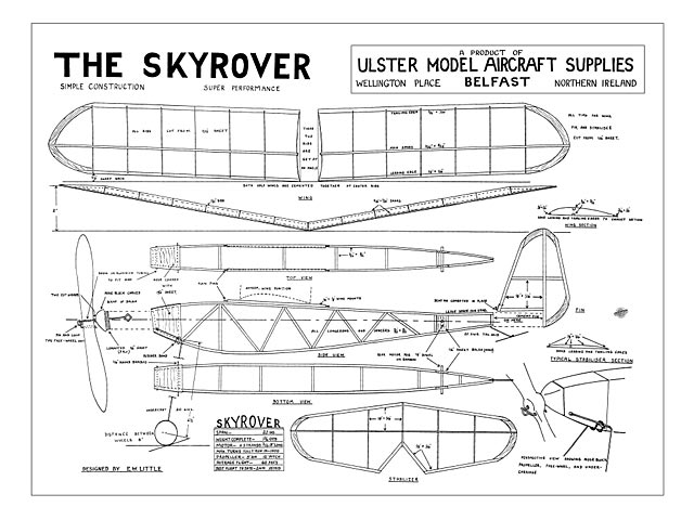 Skyrover (oz8864) by EW Little from Ulster Model Aircraft Supplies.