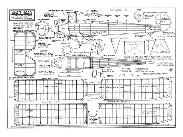 Avro 504N - plan thumbnail image