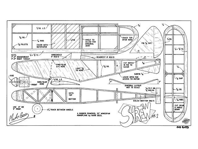 Shrew MkII (oz8958) by Mark Bees from Aeromodeller 1995