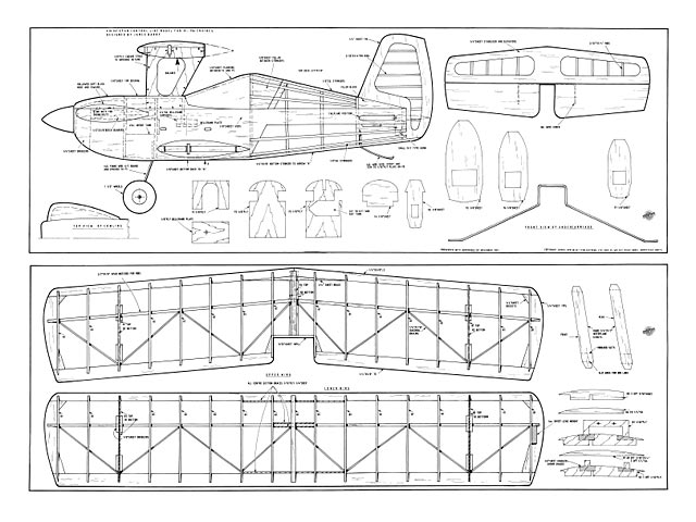 Biplane Trainer (oz8979) by James Barry from Aeromodeller 1987