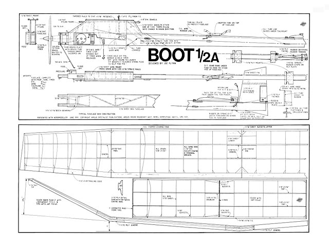 Boot 1/2A (oz9025) by Joe Flynn from Aeromodeller 1991