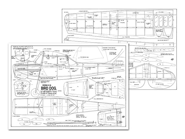 Cessna O-1A Bird Dog - plan thumbnail image