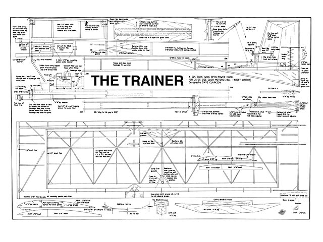 Trainer (oz9106) by Dave Clarkson from Aeromodeller 1995
