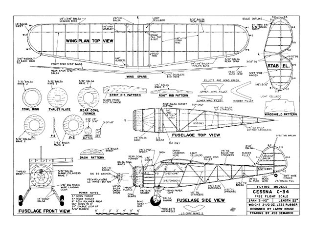 Cessna C-34 - plan thumbnail image