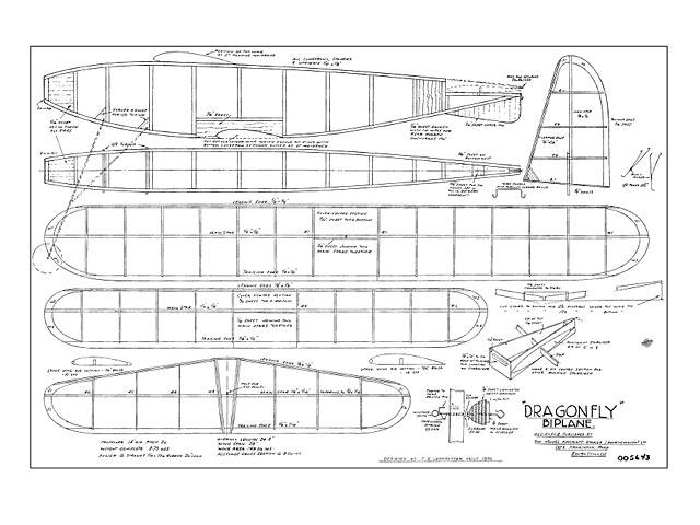 Dragonfly Biplane - plan thumbnail image