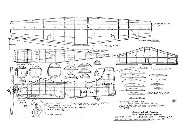 Douglas AD-4B Skyraider (oz9190) by Walt Mooney