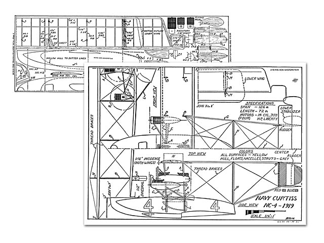 Curtiss Navy NC-4 - plan thumbnail image