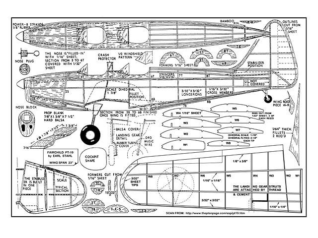 Fairchild PT-19 - plan thumbnail image