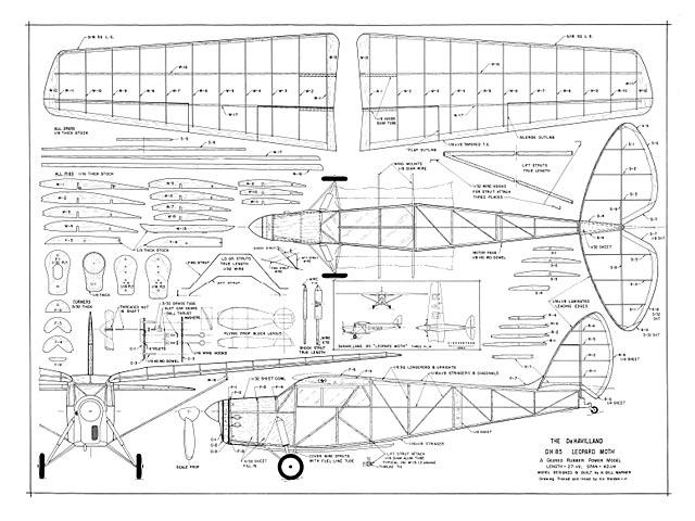 DH 85 Leopard Moth - 9342