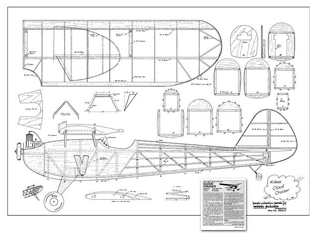 Cloud Cruiser - Harry E Moyer - Model Builder - March 1984 - 72in