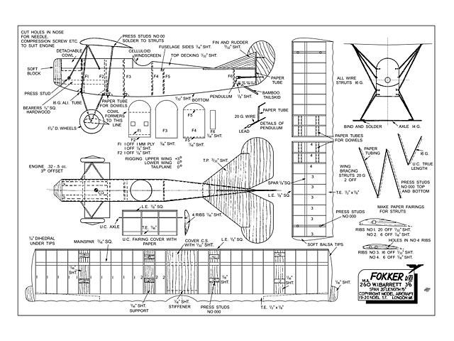 Fokker DVII - plan thumbnail image
