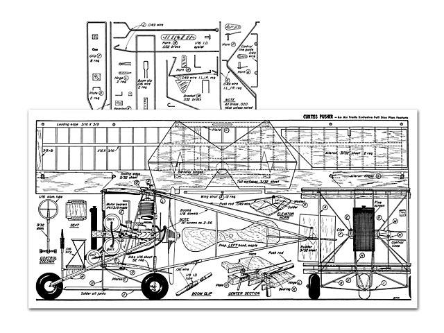 Curtiss Pusher - plan thumbnail image