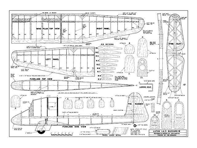 Luton LA3 Buzzard II - plan thumbnail image