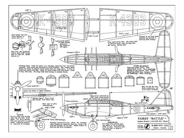 Fairey Battle (oz9460) from K-Dee 1940