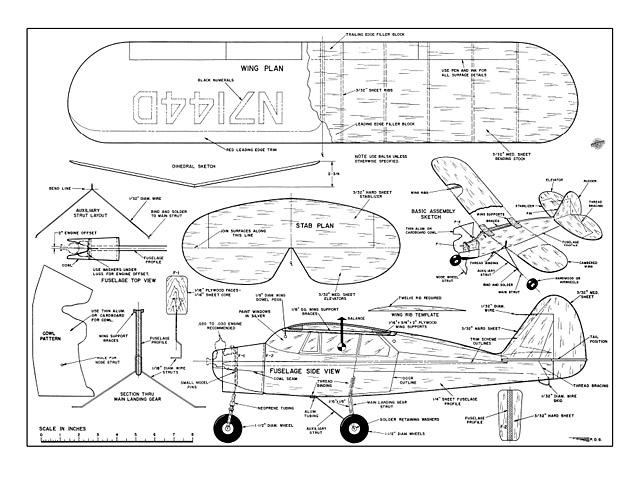 Piper Tri Pacer - plan thumbnail image