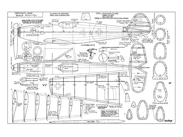 Messershmitt Me109 - plan thumbnail image