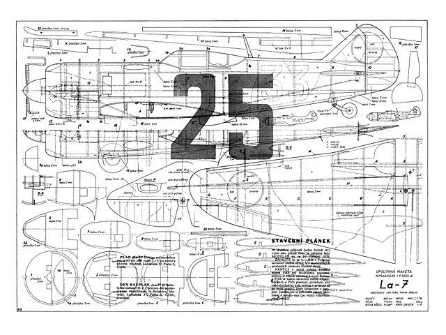 Lavochkin La-7 - plan thumbnail image