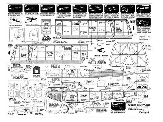 Curtiss Jenny JN4D - plan thumbnail image