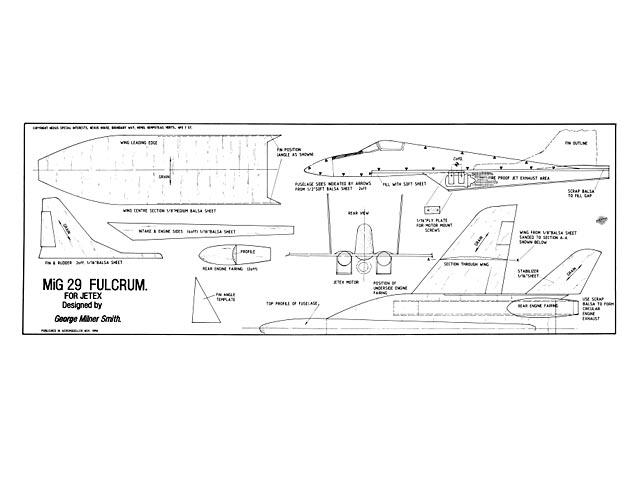 Mig 29 Fulcrum - plan thumbnail image