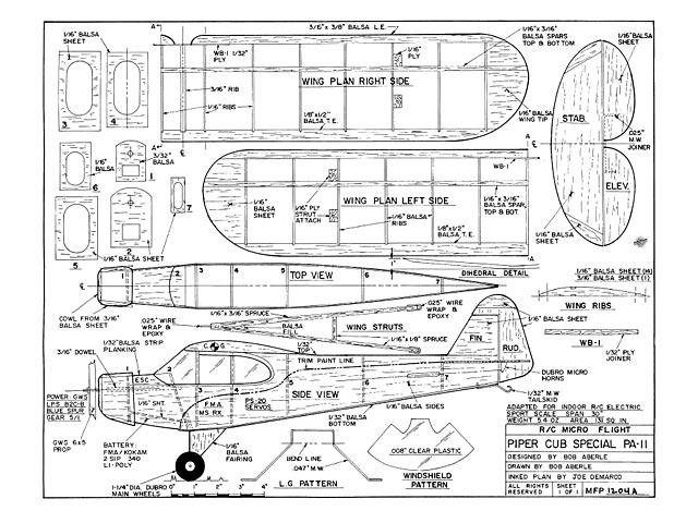 Piper Cub Special PA-11 - plan thumbnail image