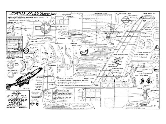 Curtiss XP-55 Ascender - plan thumbnail image
