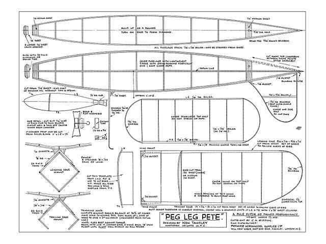 Pegleg Pete (oz9827) by Ken Tansley from Premier Aeromodel Supplies