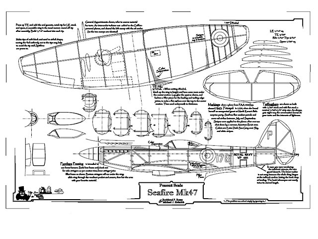 Seafire Mk47 (oz983) by Rockland F Russo from Deathtrap Squadron