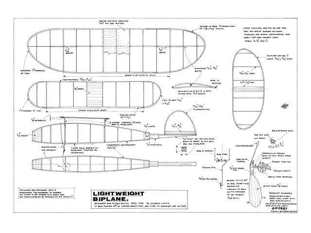 Lightweight Biplane - plan thumbnail image