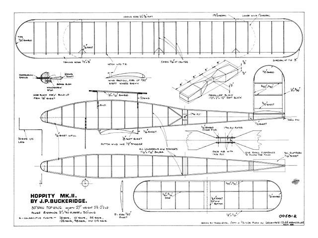 Hoppity MkII (oz9872) by JP Buckeridge from Aeromodeller 1944