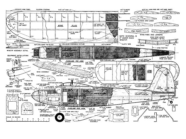 Aerofred free model airplane plans.