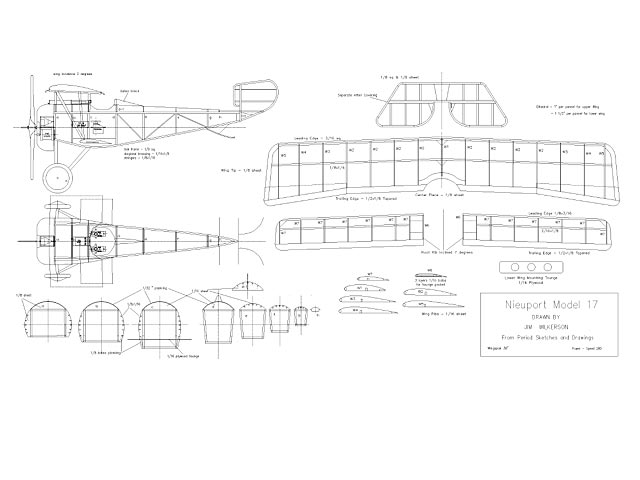 Nieuport 17 (oz991) by Jim Wilkerson