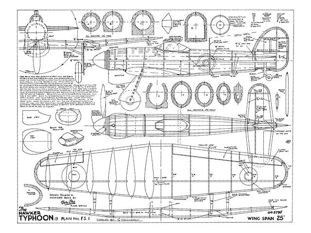 Hawker Typhoon (oz9914) by Howard Boys