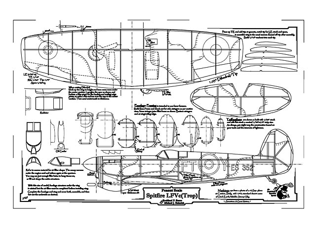 Spitfire LFVc Trop (oz992) by Rockland F. Russo & Michael Heinrich from Deathtrap Squadron 2004