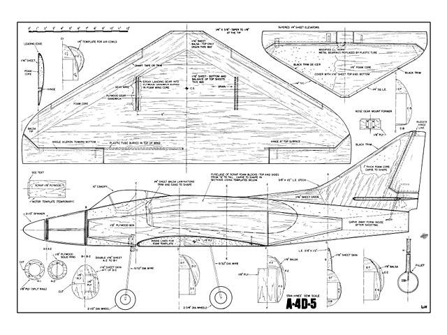 Douglas A-4D-5 Skyhawk - plan thumbnail image