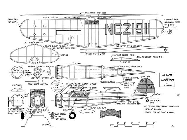 Cessna C-145 Airmaster - plan thumbnail image