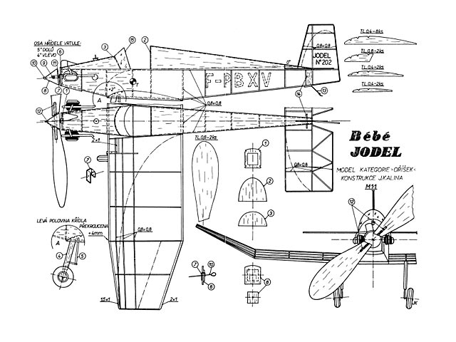 Bebe Jodel D9 (oz9963) by Jiri Kalina from Modelar 1976
