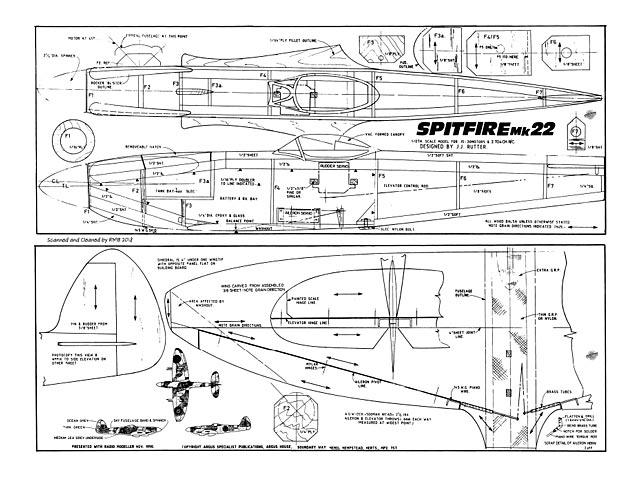 Spitfire Mk22 - plan thumbnail image