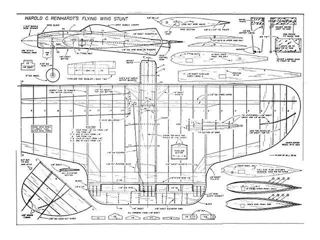 Flying Wing Stunter - plan thumbnail image